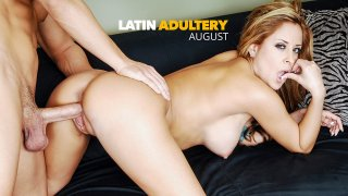 August fucking in the photography studio with her big ass - Latin Adultery