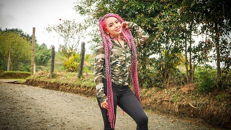 Pink-Hair Latina Pounding – Oye Loca