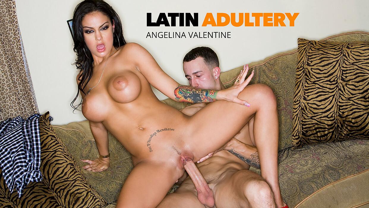 Angelina Valentine hot latina fucks a big cock - Latin Adultery