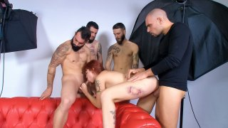 Tattooed Spanish pornstar Lilyan Red in wild gangbang with 4 amateur guys - Las Folladoras