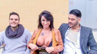Busty Spanish MILF Suhaila Hard picks up and fucks lucky amateur dude - Las Folladoras
