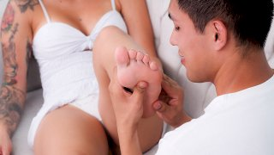 My Cousins foot fetish . Salome Gil - SEXMEX